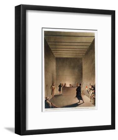 'Chamber and Sarcophagus in the Great Pyramid of Giza', Egypt, 1802-Thomas Milton-Framed Giclee Print