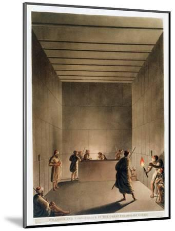 'Chamber and Sarcophagus in the Great Pyramid of Giza', Egypt, 1802-Thomas Milton-Mounted Giclee Print