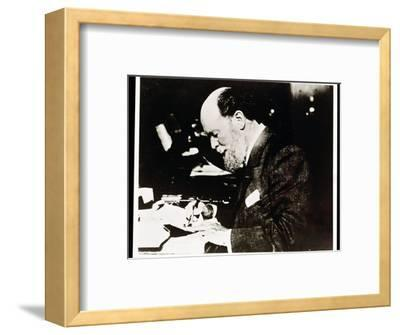 Carl Faberge, Russian jeweller and goldsmith, at work, 20th century-Unknown-Framed Photographic Print