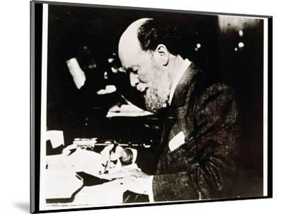 Carl Faberge, Russian jeweller and goldsmith, at work, 20th century-Unknown-Mounted Photographic Print