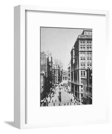 Broad Street, looking towards Wall Street, New York City, USA, 1893-Unknown-Framed Photographic Print