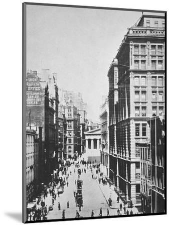 Broad Street, looking towards Wall Street, New York City, USA, 1893-Unknown-Mounted Photographic Print