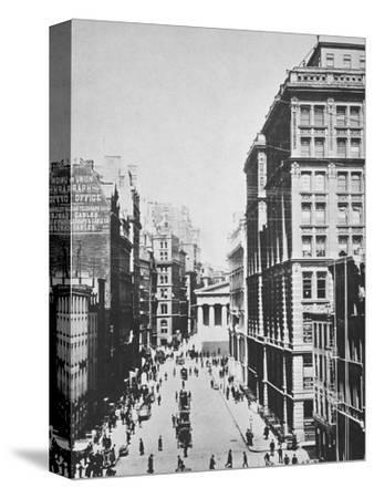 Broad Street, looking towards Wall Street, New York City, USA, 1893-Unknown-Stretched Canvas Print