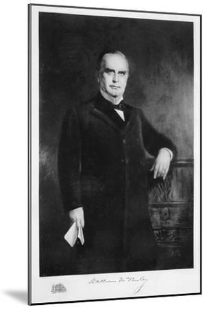 William McKinley, 25th President of the United States, 19th century-Unknown-Mounted Giclee Print