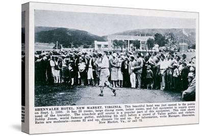 Bobby Jones playing golf at the Shenvalee Hotel, Virginia, USA, 1930-Unknown-Stretched Canvas Print