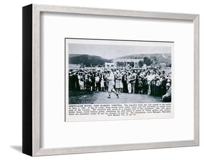 Bobby Jones playing golf at the Shenvalee Hotel, Virginia, USA, 1930-Unknown-Framed Photographic Print