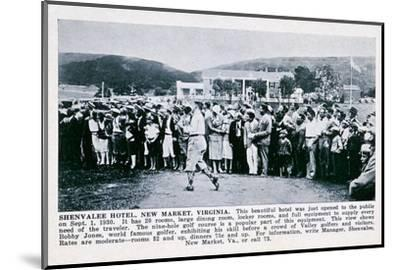 Bobby Jones playing golf at the Shenvalee Hotel, Virginia, USA, 1930-Unknown-Mounted Photographic Print