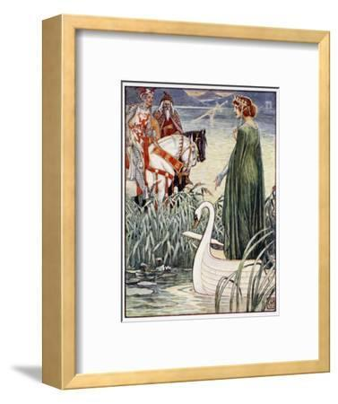 'King Arthur asks the Lady of the Lake for the sword Excalibur', 1911-Unknown-Framed Giclee Print