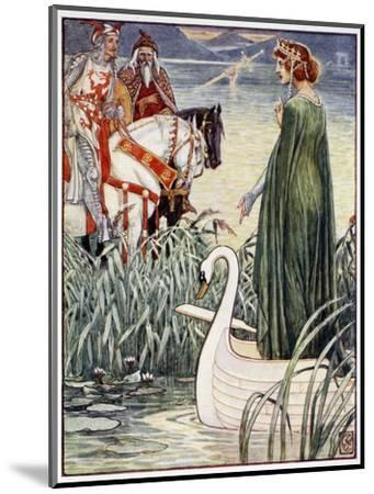 'King Arthur asks the Lady of the Lake for the sword Excalibur', 1911-Unknown-Mounted Giclee Print