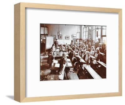 Science class, Albion Street Girls School, Rotherhithe, London, 1908-Unknown-Framed Photographic Print