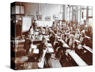 Science class, Albion Street Girls School, Rotherhithe, London, 1908-Unknown-Stretched Canvas Print