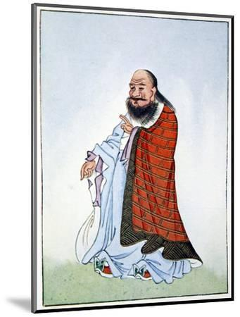 Lao-Tzu, ancient Chinese philosopher and inspiration of Taoism, 1922-Unknown-Mounted Giclee Print