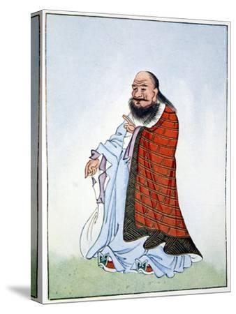 Lao-Tzu, ancient Chinese philosopher and inspiration of Taoism, 1922-Unknown-Stretched Canvas Print