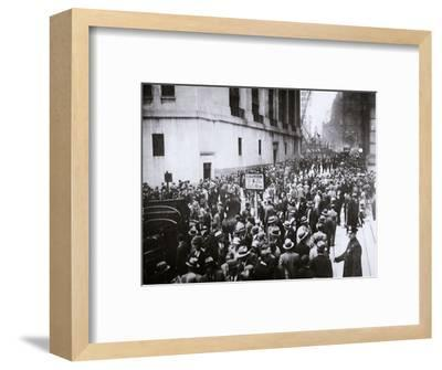 The Wall Street Crash, New York City, USA, Thursday, 24 October 1929-Unknown-Framed Photographic Print