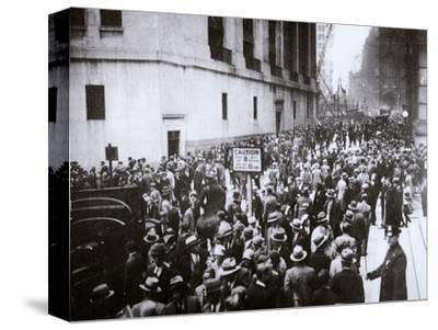 The Wall Street Crash, New York City, USA, Thursday, 24 October 1929-Unknown-Stretched Canvas Print