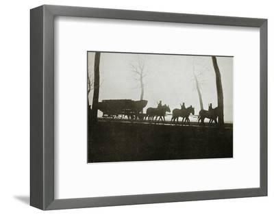 French troops on the road to the trenches, France, World War I, 1916-Unknown-Framed Photographic Print