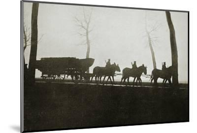 French troops on the road to the trenches, France, World War I, 1916-Unknown-Mounted Photographic Print