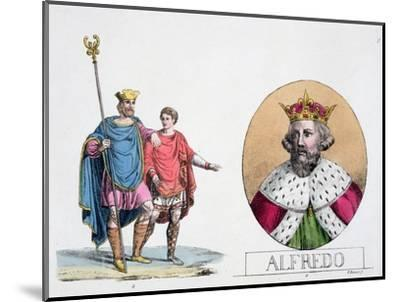 Edward the Confessor and Alfred the Great, English kings, 19th century-Unknown-Mounted Giclee Print