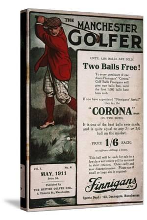 Advertisement on the cover of The Manchester Golfer, British, May 1911-Unknown-Stretched Canvas Print