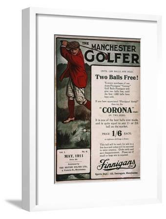 Advertisement on the cover of The Manchester Golfer, British, May 1911-Unknown-Framed Giclee Print