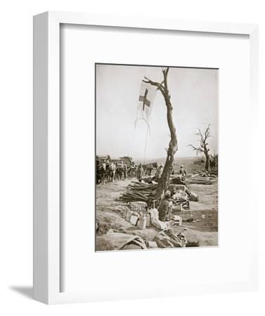An advanced dressing station, Somme campaign, France, World War I, 1916-Unknown-Framed Photographic Print