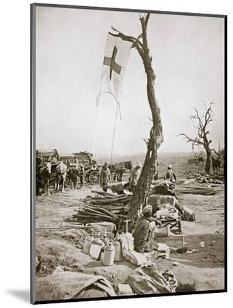 An advanced dressing station, Somme campaign, France, World War I, 1916-Unknown-Mounted Photographic Print