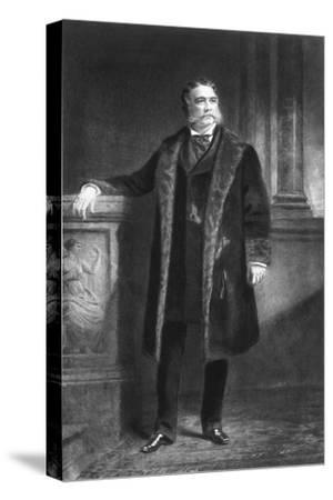 Chester A Arthur, 21st President of the United States of America, (1901)-Unknown-Stretched Canvas Print