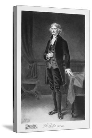 Thomas Jefferson, 3rd President of the United states of America, (1901)-Unknown-Stretched Canvas Print