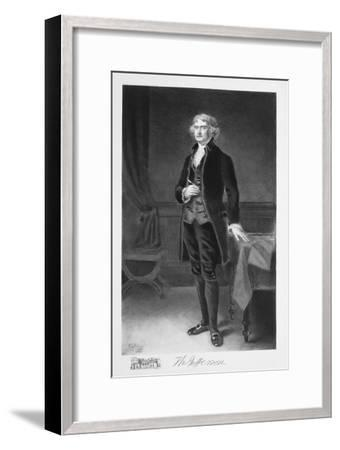 Thomas Jefferson, 3rd President of the United states of America, (1901)-Unknown-Framed Giclee Print