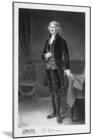 Thomas Jefferson, 3rd President of the United states of America, (1901)-Unknown-Mounted Giclee Print