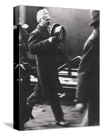 Leon Trotsky, exiled Russian Communist leader, arriving in Paris, c1933-Unknown-Stretched Canvas Print