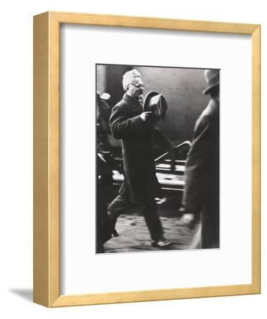 Leon Trotsky, exiled Russian Communist leader, arriving in Paris, c1933-Unknown-Framed Photographic Print