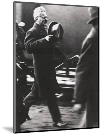 Leon Trotsky, exiled Russian Communist leader, arriving in Paris, c1933-Unknown-Mounted Photographic Print