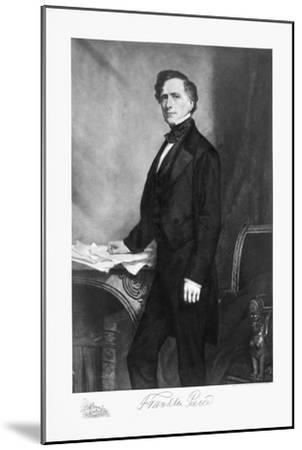 Franklin Pierce, 14th President of the United States of America, (1901)-Unknown-Mounted Giclee Print