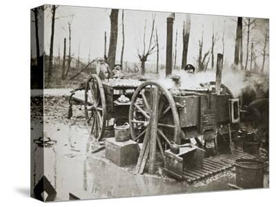 'How Tommy's food is cooked', Somme campaign, France, World War I, 1916-Unknown-Stretched Canvas Print