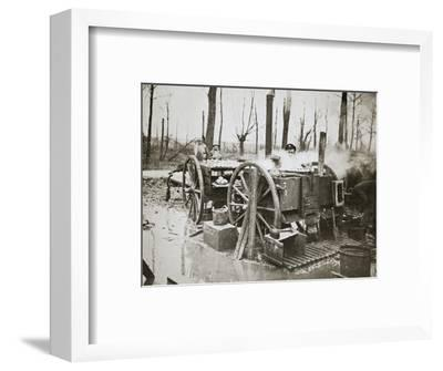 'How Tommy's food is cooked', Somme campaign, France, World War I, 1916-Unknown-Framed Photographic Print