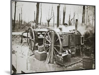 'How Tommy's food is cooked', Somme campaign, France, World War I, 1916-Unknown-Mounted Photographic Print