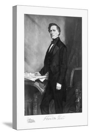 Franklin Pierce, 14th President of the United States of America, (1901)-Unknown-Stretched Canvas Print