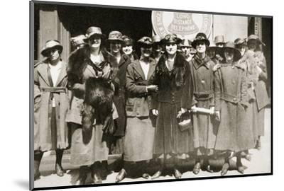 Female telephone operators on strike in Boston, Massachusetts, USA, 1919-Unknown-Mounted Photographic Print