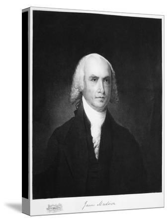 James Madison, 4th President of the the United States of America, (1901)-Unknown-Stretched Canvas Print