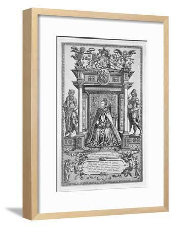 Queen Elizabeth I of England as Patron of Geography and Astronomy, 1579-Unknown-Framed Giclee Print