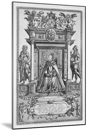 Queen Elizabeth I of England as Patron of Geography and Astronomy, 1579-Unknown-Mounted Giclee Print