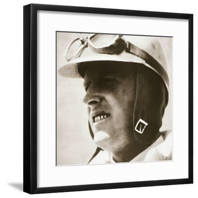 Sir Henry Segrave, American-born British world speed record driver, 1930-Unknown-Framed Photographic Print