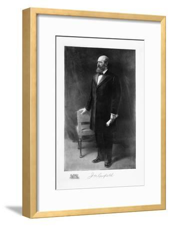James A Garfield, 20th President of the United States of America, (1901)-Unknown-Framed Giclee Print