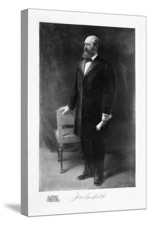 James A Garfield, 20th President of the United States of America, (1901)-Unknown-Stretched Canvas Print