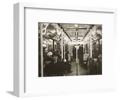 Interior of an Eighth Avenue subway carriage, New York, USA, early 1930s-Unknown-Framed Photographic Print