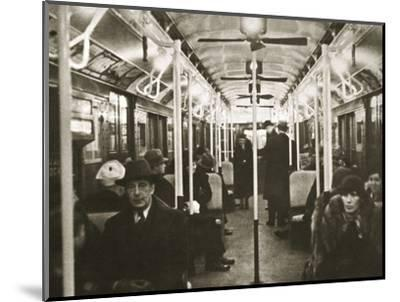 Interior of an Eighth Avenue subway carriage, New York, USA, early 1930s-Unknown-Mounted Photographic Print
