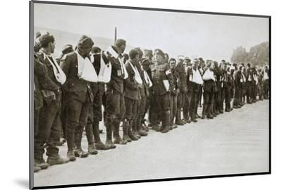 A parade of the walking wounded, Somme campaign, France, World War I, 1916-Unknown-Mounted Photographic Print