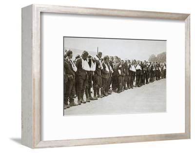 A parade of the walking wounded, Somme campaign, France, World War I, 1916-Unknown-Framed Photographic Print