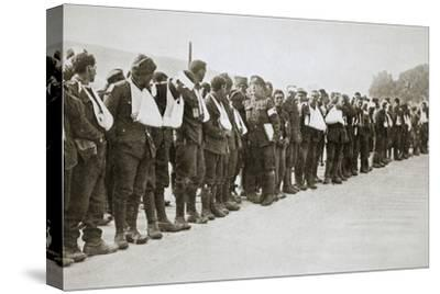 A parade of the walking wounded, Somme campaign, France, World War I, 1916-Unknown-Stretched Canvas Print